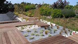 amenagement jardin avec graminees gallery of et With amenager une terrasse exterieure 16 quelles plantes pour un massif de bord de piscine