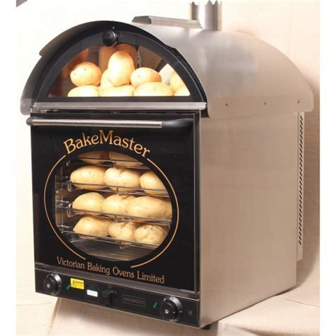 Bakemaster Convection Oven: Twin Fan Potato Oven Stainless