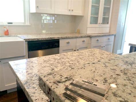 ornamental white granite with white cabinets 4cm white ornamental granite with subway tile backsplash