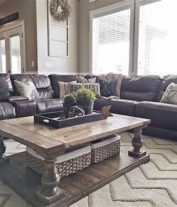 Decorating ideas for living room with leather furniture for Stratford home pillows living room furniture