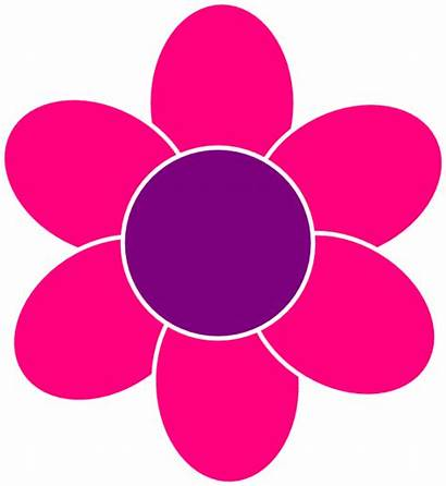 Pink Flower Flowers Clipart Clip Girly Cliparts