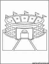 Coloring Stadium Pages Baseball Field Cutout Printable Mlb Template Cutouts Fan Diamond Popular sketch template