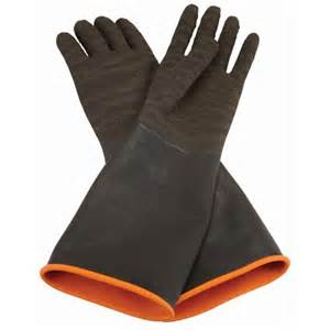 rubber blasting gloves