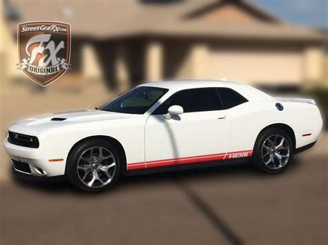 Dodge Challenger Stripes, Racing Stripes, R/T Graphics