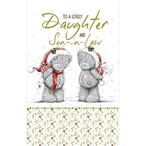 lovely daughter  son  law    bear christmas card xmz    bears