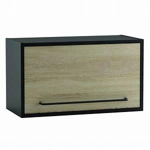 Meuble Cuisine Haut : meuble haut abattant cuisine loft ~ Teatrodelosmanantiales.com Idées de Décoration