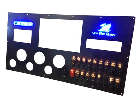 large carbon fiber switch panel contender new wire marine