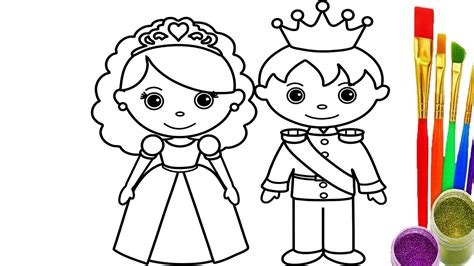 Kid Drawing Pictures How To Draw King And Queen Coloring