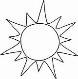 Sun Coloring Printable sketch template