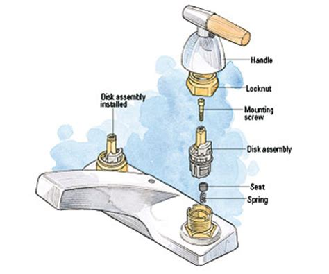 kitchen faucet sprayer diverter valve how to easy 30 minute leaky faucet repair lowes