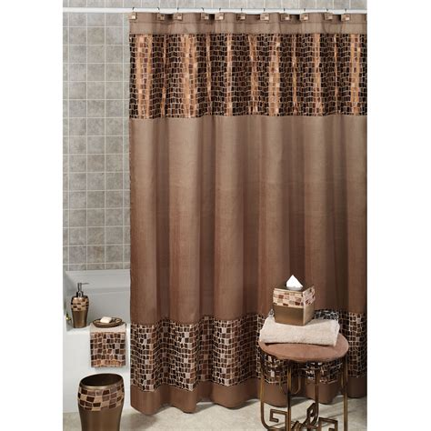 Teal And Brown Curtains Walmart by Shower Curtain Designer Tags Brown And Shower