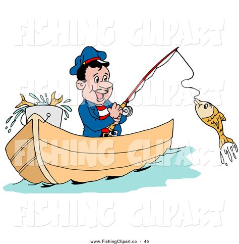 Clipart Boat Fishing by Royalty Free Fisherman Stock Fishing Designs