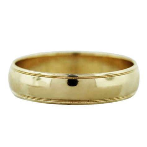 yellow gold mens wedding band ring boca raton