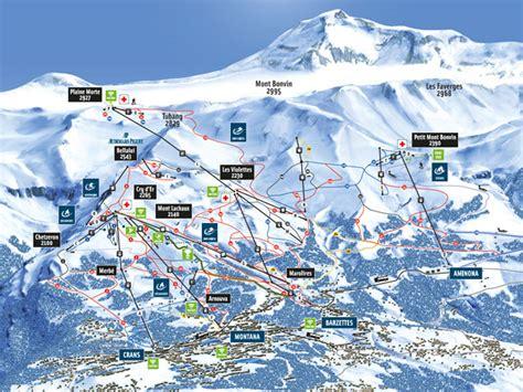Plan Des Pistes Crans-montana (suisse