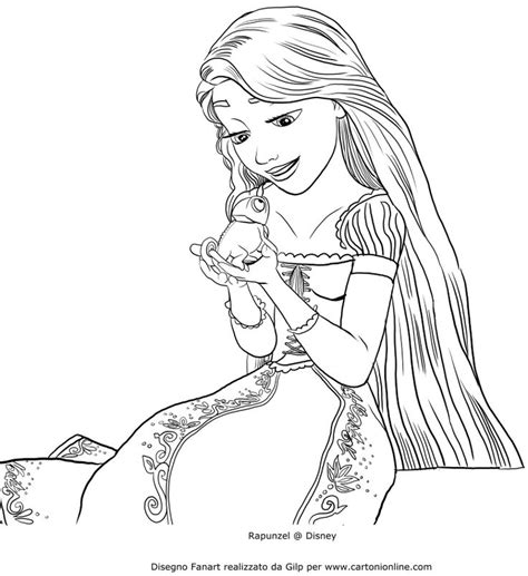 principesse disney da colorare rapunzel inspirational disegni da colorare principesse rapunzel