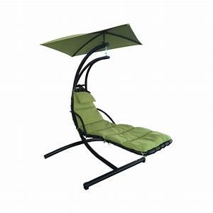 Shop Garden Treasures Green Polyester Single Hammock Chair