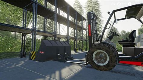 fs forklift stacker bucket set  simulator games