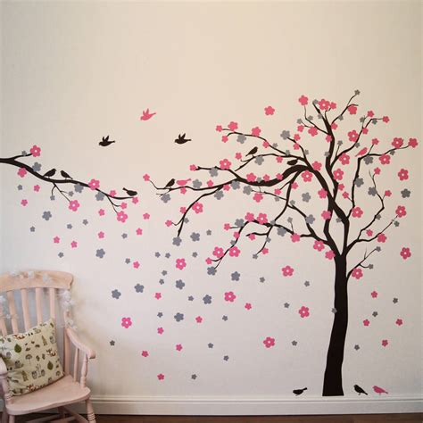 stickers chambre ado fille floral blossom tree wall stickers by parkins interiors