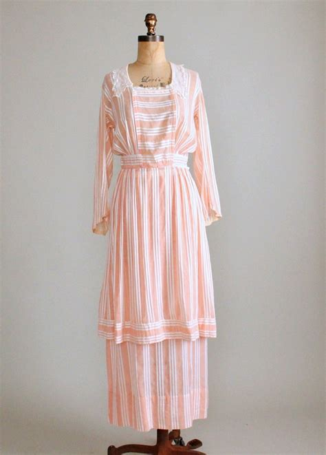 blouses and dresses antique 1910s striped cotton blouse and bustle skirt