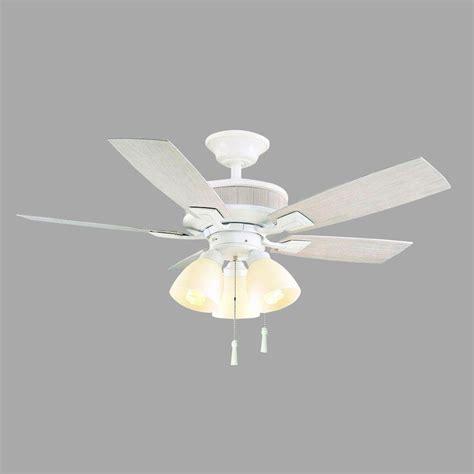 42 white ceiling fan with light hton bay riverwalk 42 in indoor outdoor matte white