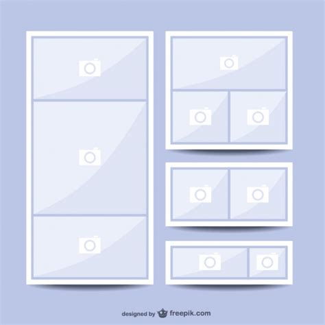 Picture Collage Templates Free by Collage Picture Template Vector Free