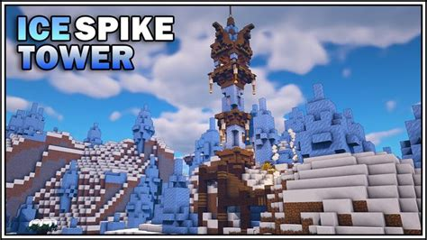 minecraft ice spike tower house quick  easy minecraft ice castle minecraft ice