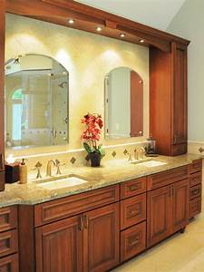 Photo page hgtv for Tuscan bathroom vanity cabinets