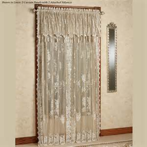 easy style lace curtain panel with attached valance