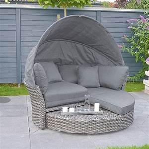 Lounge Insel Outdoor : sunfun lounge insel paula 193 x 175 x 166 cm polyrattan bambusgrau bauhaus ~ Bigdaddyawards.com Haus und Dekorationen