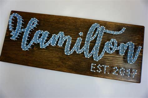 custom   string art   sign