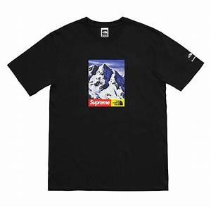 Light Blue Cotton T Shirt Supreme X The North Face Snow Mountain T Shirt