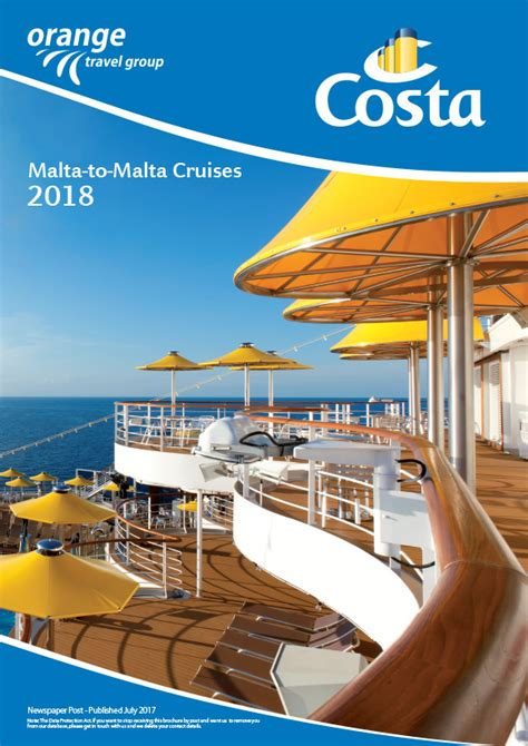 Cruise Travel Brochure Template Design Costa Cruise Brochure Brochures Smsmondial Travel Agents