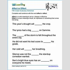 Grade 5 Vocabulary Worksheets  Printable And Organized By Subject  K5 Learning