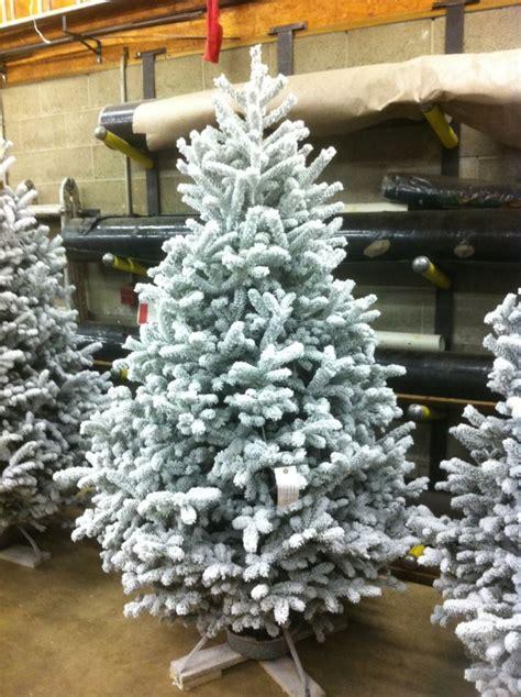 flocked christmas trees josephs nursery donora pa