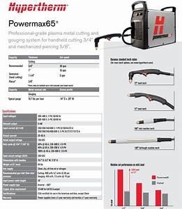 Hypertherm Powermax 65 Plasma Cutter W  25 U0026 39  Hand Torch Pkg