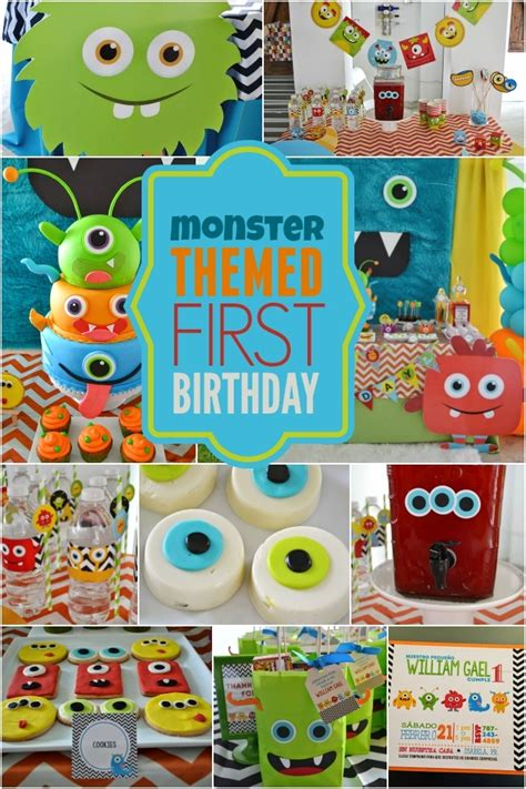 1st birthday party ideas for boys best on a boy 25 birthday party theme ideas monsters birthday