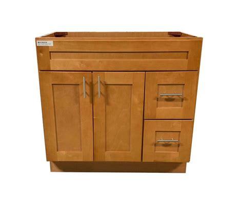maple shaker single sink bathroom vanity base cabinet
