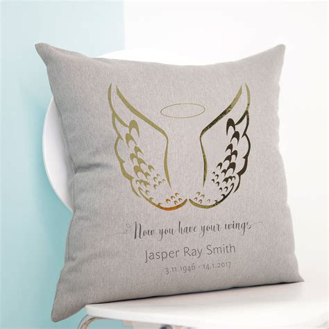 personalised cusion personalised wings cushion