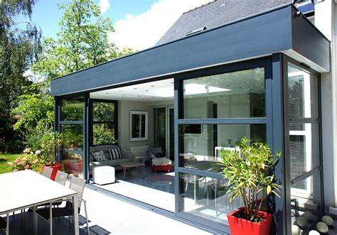 fenetre bandeau cuisine extension vitrée et veranda avec bandeau aluminium