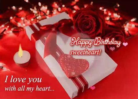 romantic birthday  sweetheart   husband wife ecards
