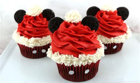 mickey mouse santa hat cupcakes  sisters