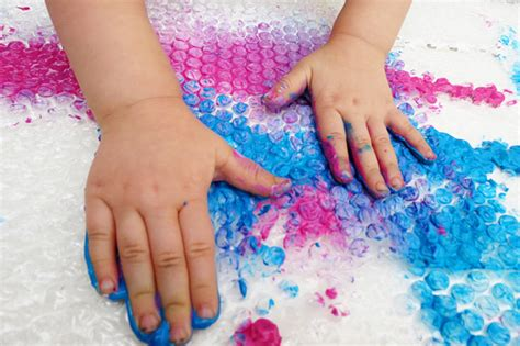 sensory wrap finger painting 602 | Sensory activities for toddlers