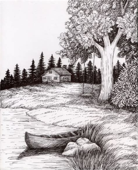 ink wash landscape   ink landscape