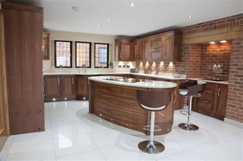 walnut kitchen designs wood modern kitchen walnut bespoke kitchens 3343