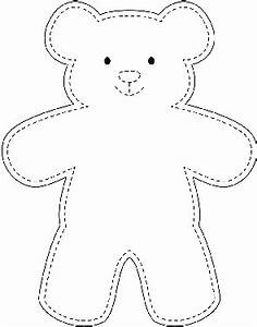sample teddy bear template wikihow quilting With template for a teddy bear