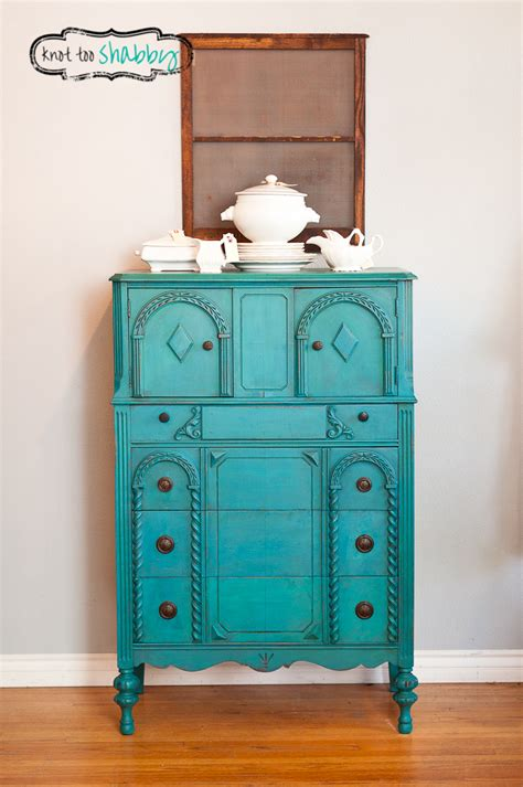 peacock blue cabinet sold knot  shabby furnishings