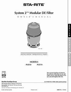 Sta Rite Swimming Pool Filter Pld50 Users Manual S339