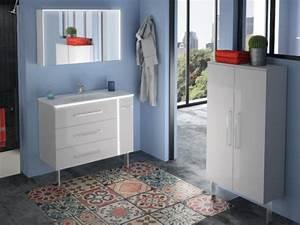 Meuble Vasque Retro : un meuble vasque r tro clair ~ Teatrodelosmanantiales.com Idées de Décoration