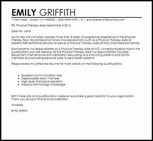 physical therapy aide cover letter sample livecareer With cover letter examples for physical therapy