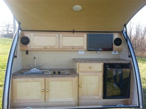 teardrop camper kitchens  small trailer enthusiast